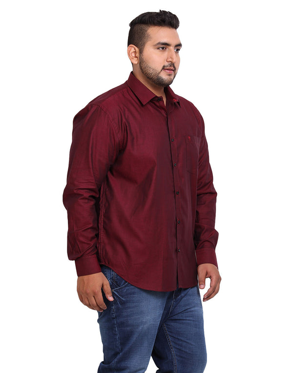 Maroon Cotton Shirt - 4113A