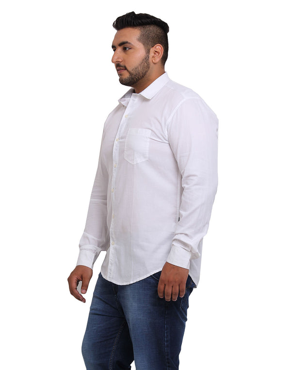 White Cotton Shirt - 23466
