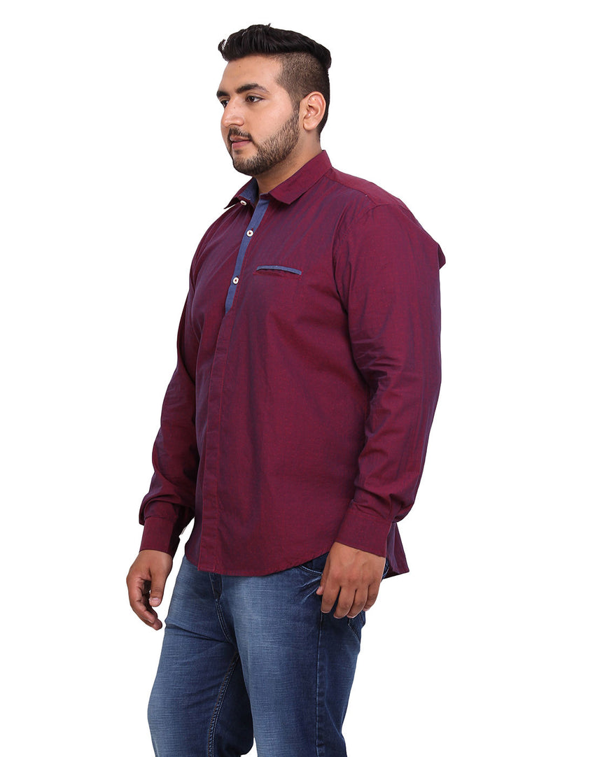 Maroon Cotton Shirt - 2168A