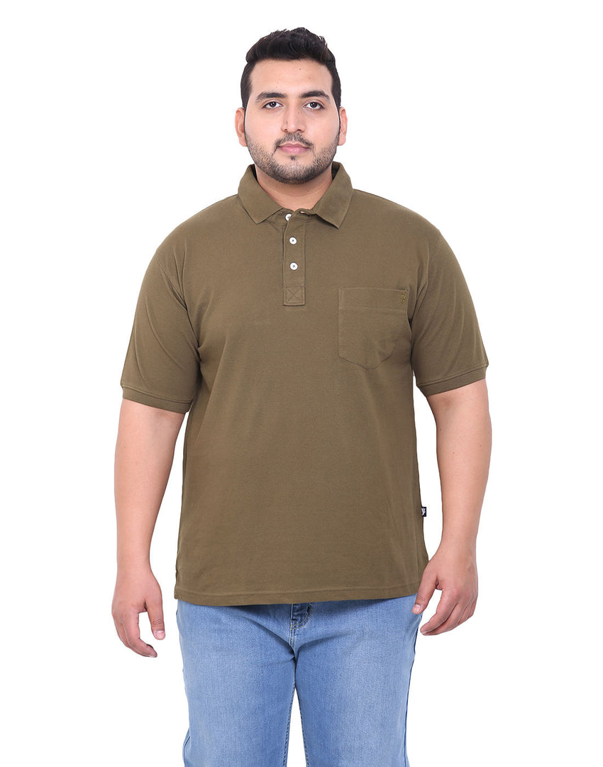 Olive Cotton T-Shirt- 3103A