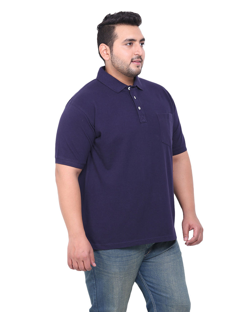 Navy Blue Cotton T-Shirt- 3103B