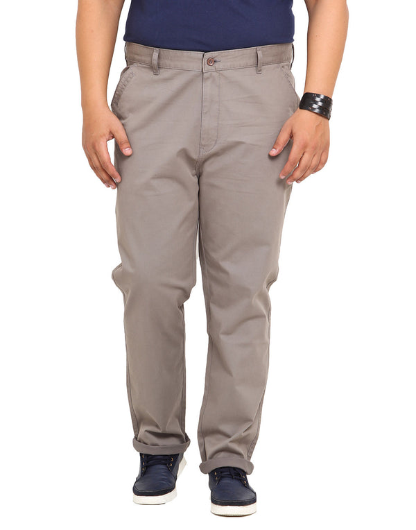 John Pride Grey Coloured Trouser - 1642