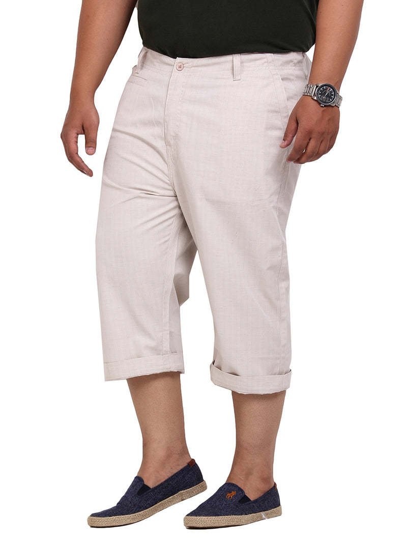 Beige Smart Fit Capri-6104A