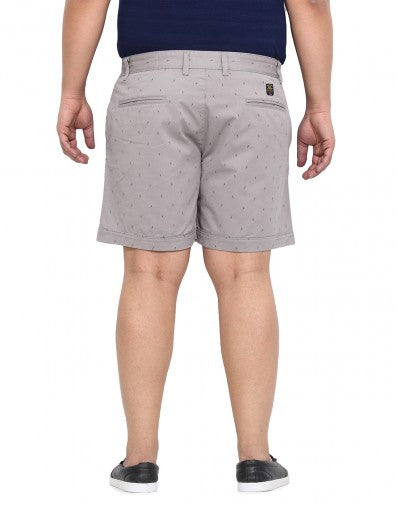 Grey 100% Cotton Shorts