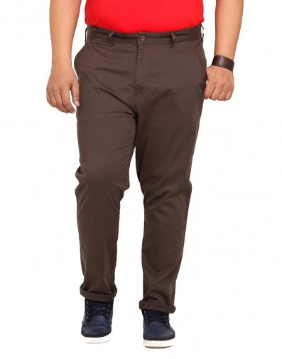 Olive Cotton Stretch Trouser