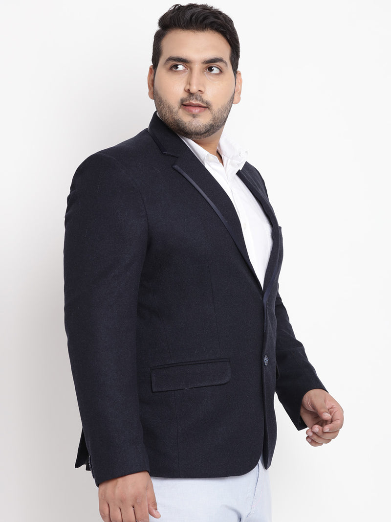 Navy Blue Coloured Tweed Blazer- 7713