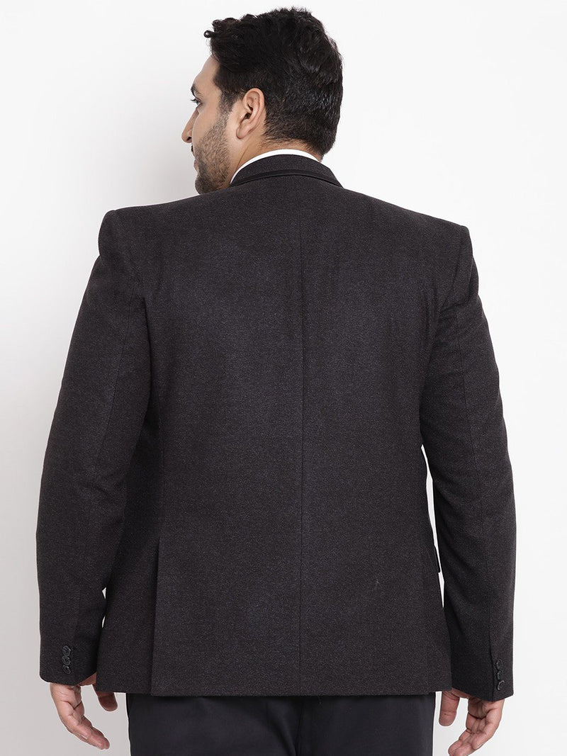 Black Coloured Tweed Blazer-7714