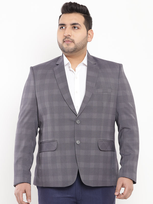 Grey Smart Fit Blazer-7721