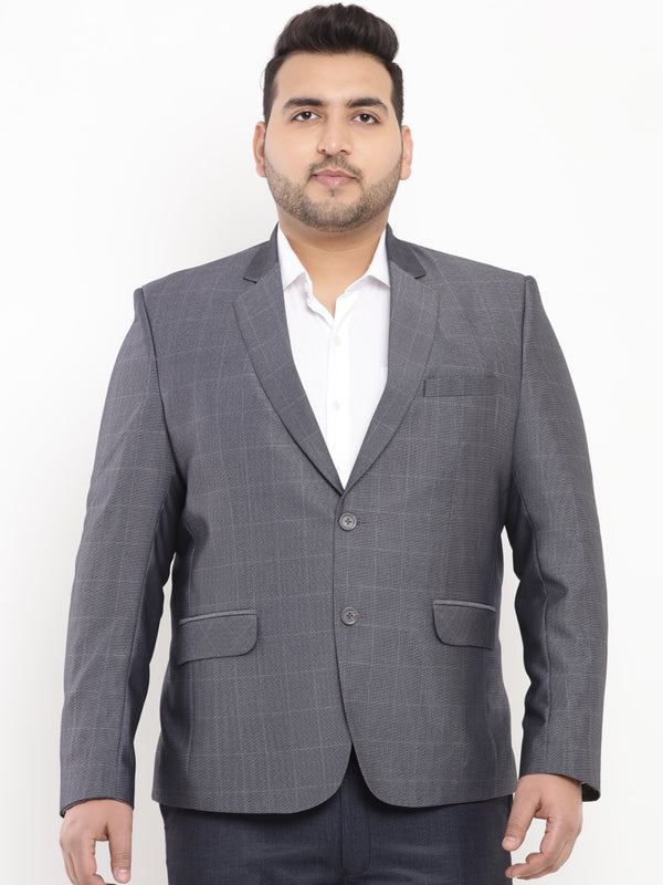 Dark Grey Smart Fit Blazer-7722
