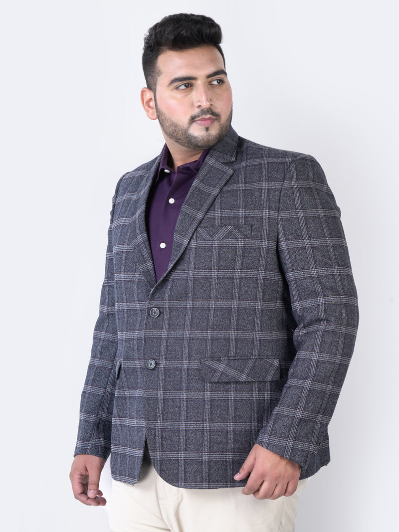Multi Color Check Blazer - 7733