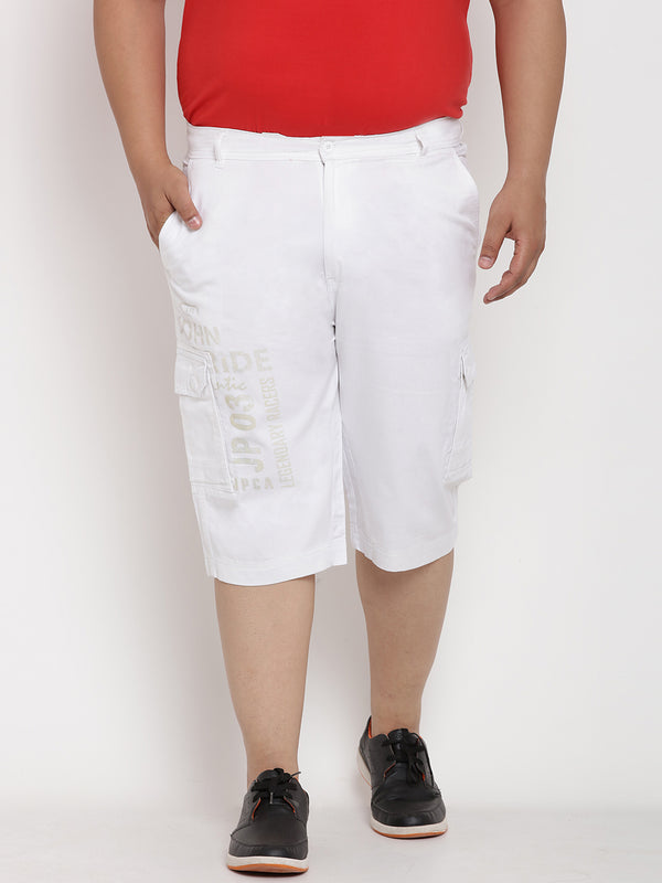Tawny White Cargo 3/4 pants - 6111A