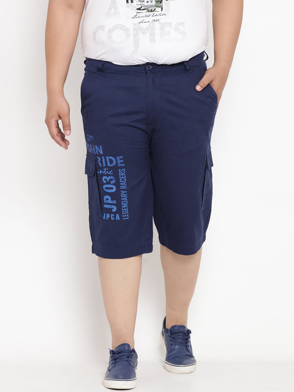 Space Blue Cargo 3/4 pants - 6111B