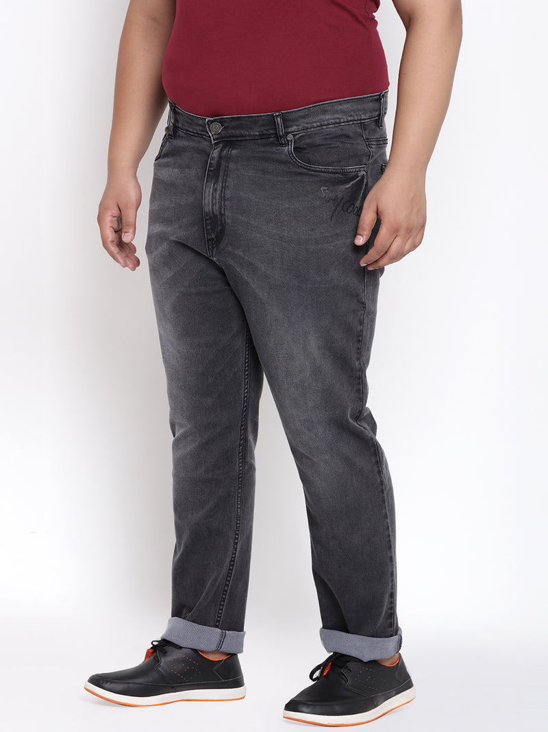 Charcoal Stretchable Jeans- 1193