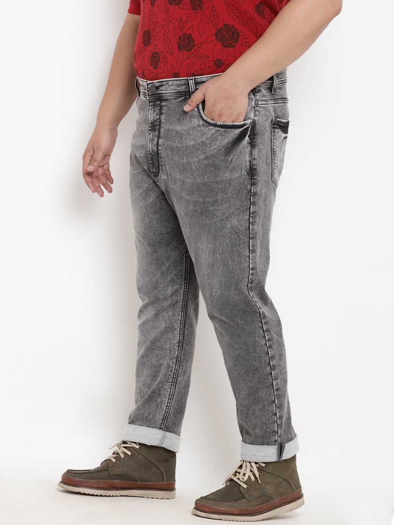 Grey Stretchable Jeans- 1195