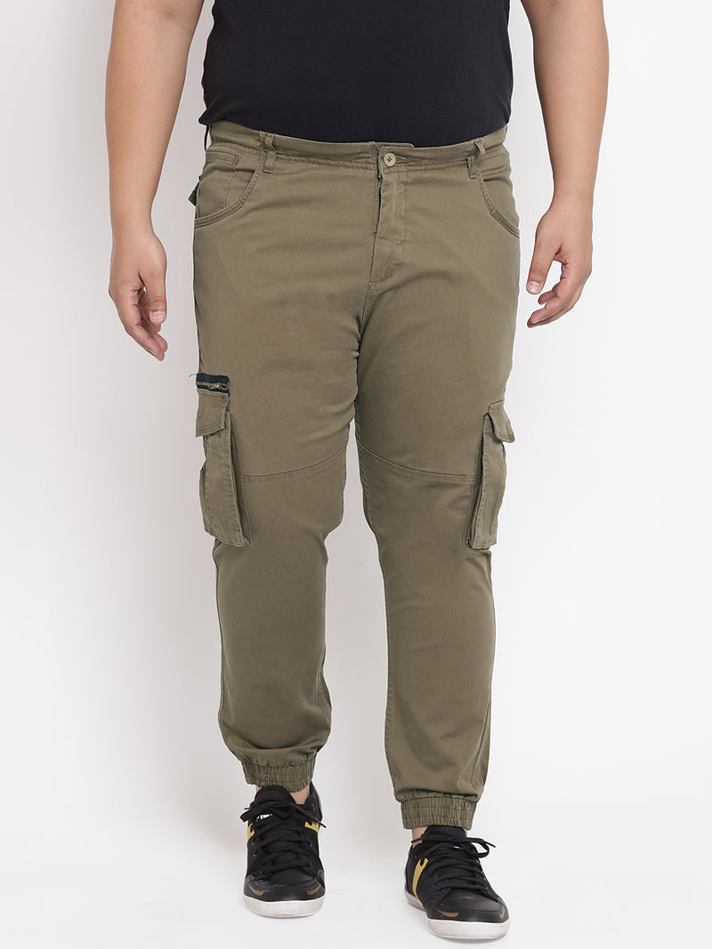 Olive Cargo Joggers - 1208