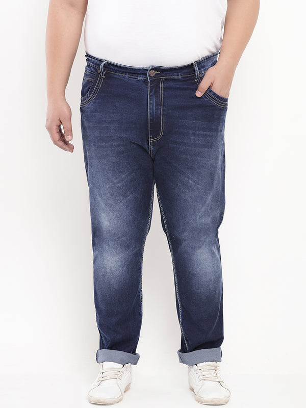 Dark Blue Comfort Fit Denim Jeans-1219