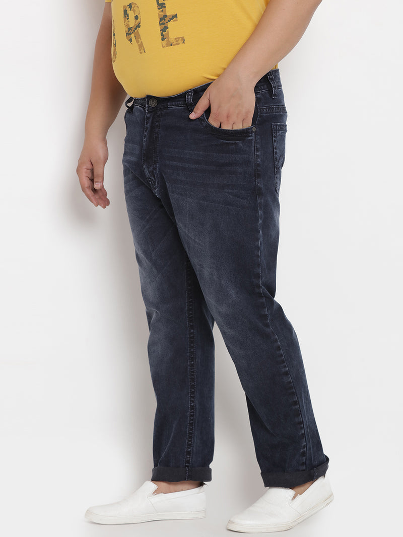Dark Blue Stretchable Jeans - 1229