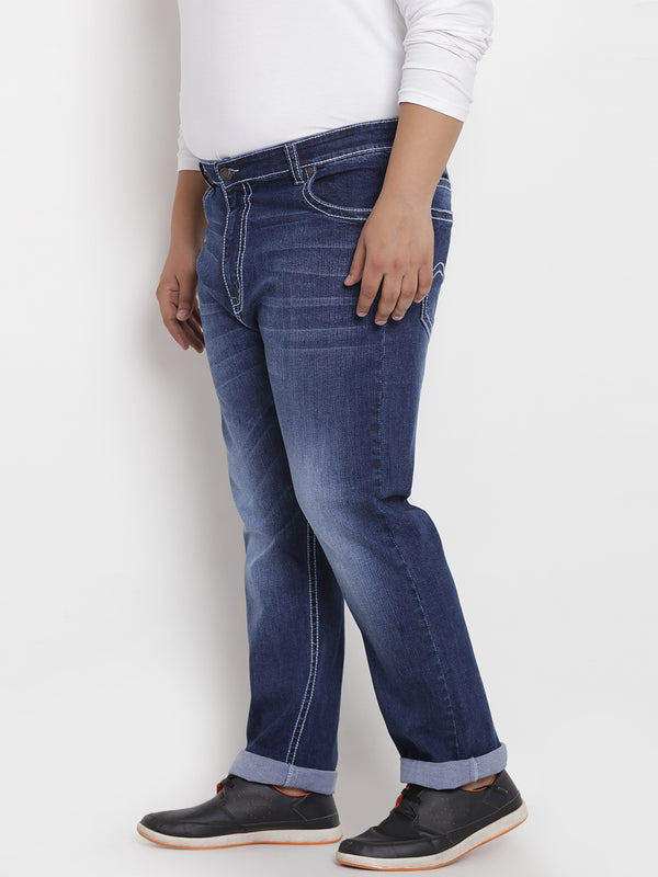 Blue Attractive Stretchable Jeans - 1230