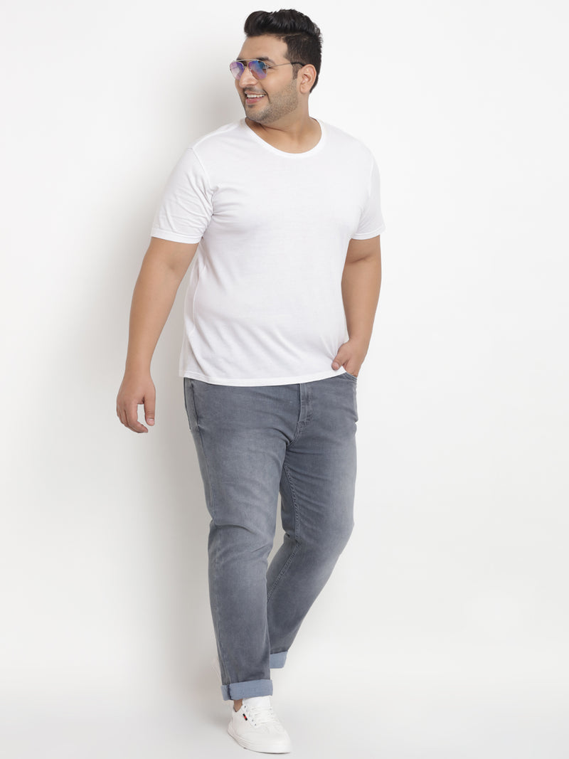 Unassuming Grey Stretchable Jeans - 1235