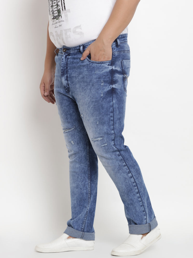 Light Blue Stretchable Jeans- 1236