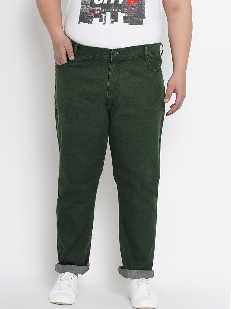 Olive Smart Fit Jeans- 1260A