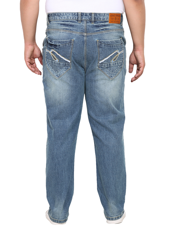 Blue Cotton Jeans- 15154