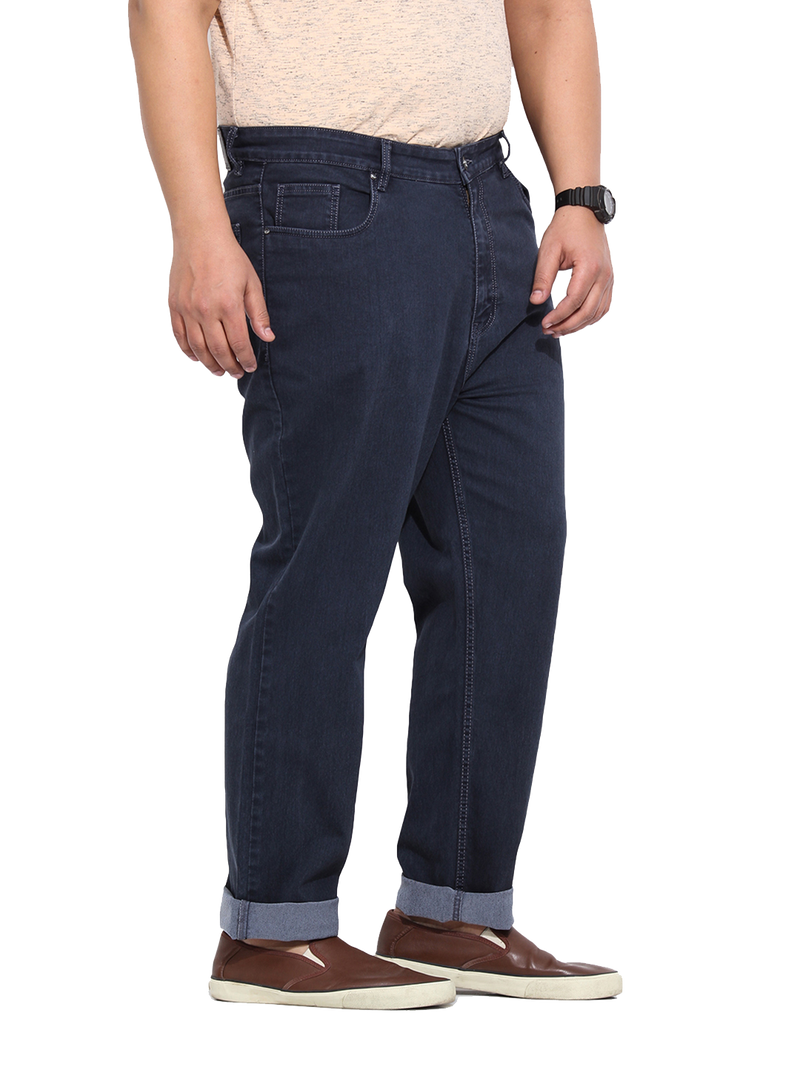 Dark Grey Cotton Stretch Denim Jeans- 1186C