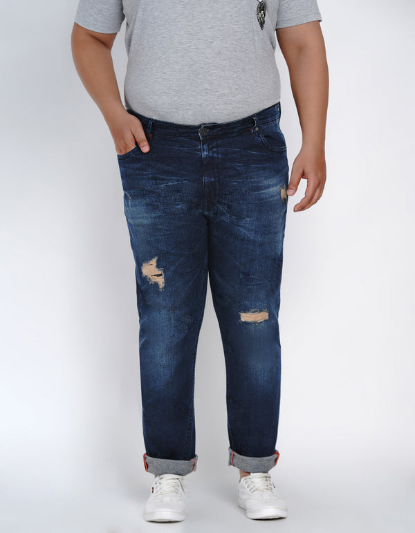 ALLURE BLUE RIPPED JEANS - 2515