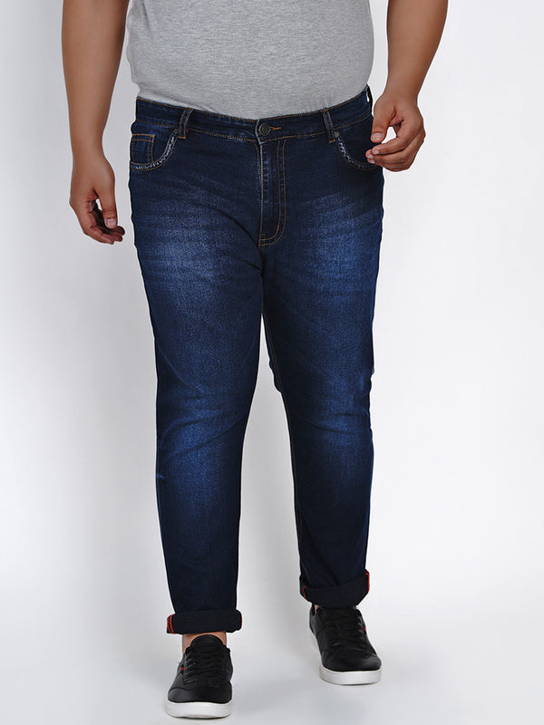 DARK BLUE STRETCHABLE JEANS - 2517