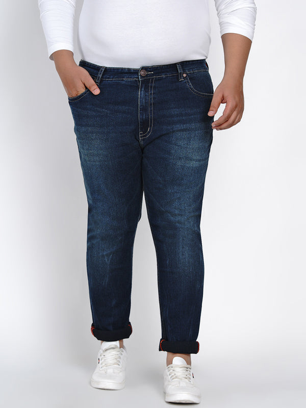 DARK BLUE STRAIGHT FIT JEANS - 2519