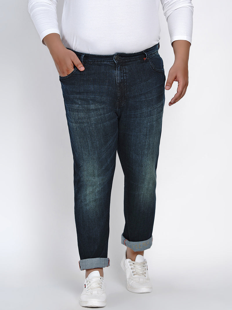 MID RISE BLUE STRETCHABLE JEANS - 2520