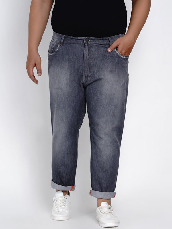 GREY REGULAR FIT JEANS - 2522