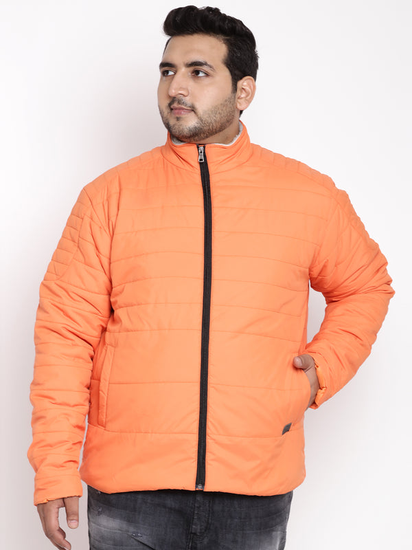 Orange Full Sleeve Jacket-7372