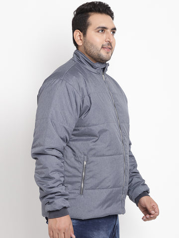 Grey Full Sleeve Jacket- 7341A