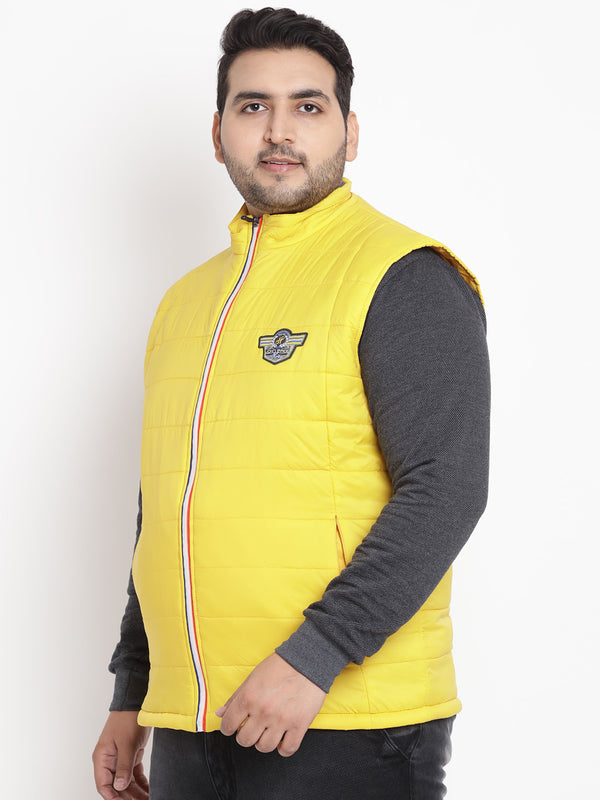 Yellow Sleeveless Jacket- 7375