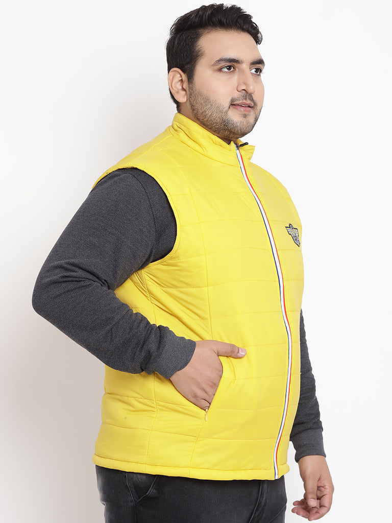 Yellow Sleeveless Jacket- 7344