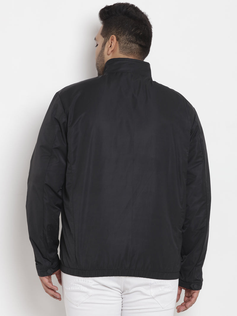 All Weather Wearable Trendsetter Black Jacket -7350A