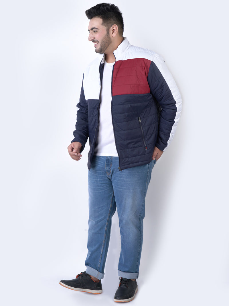 Blue Color Blocked Jackets - 7362B