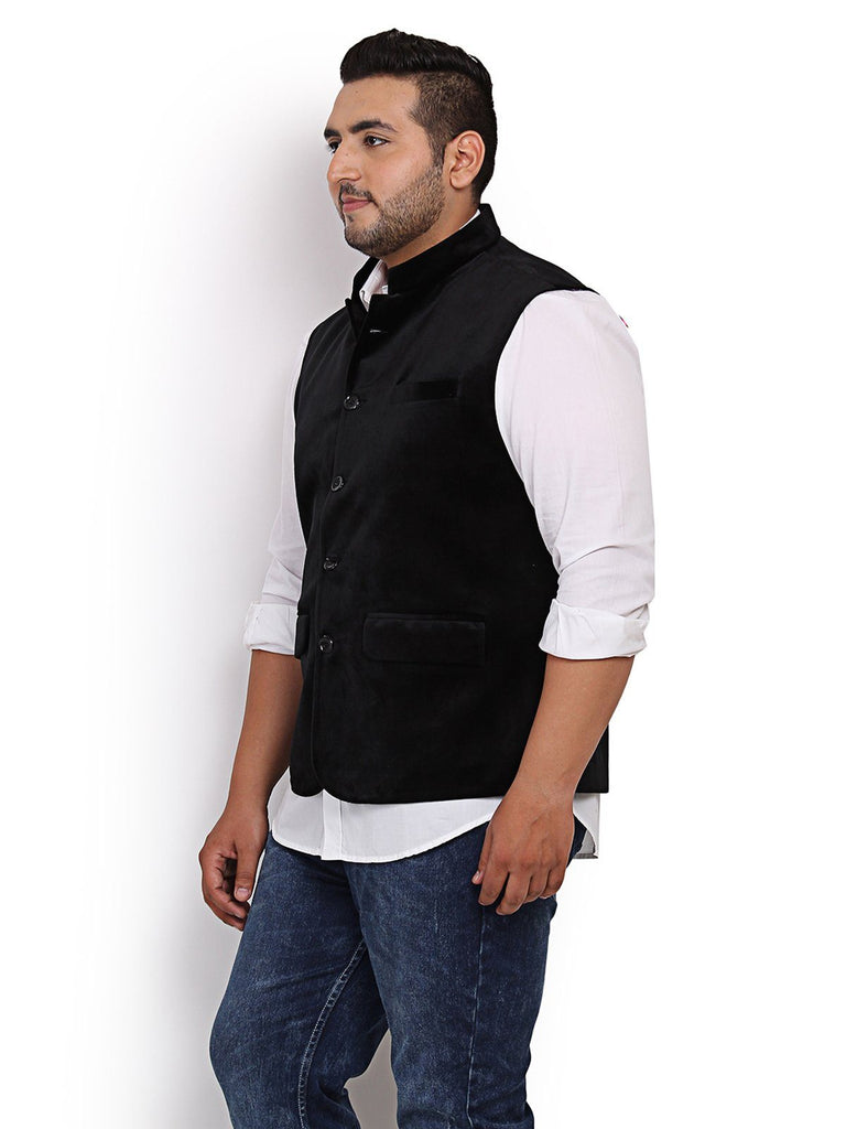 Black Velvet Nehru Jacket- 7404C