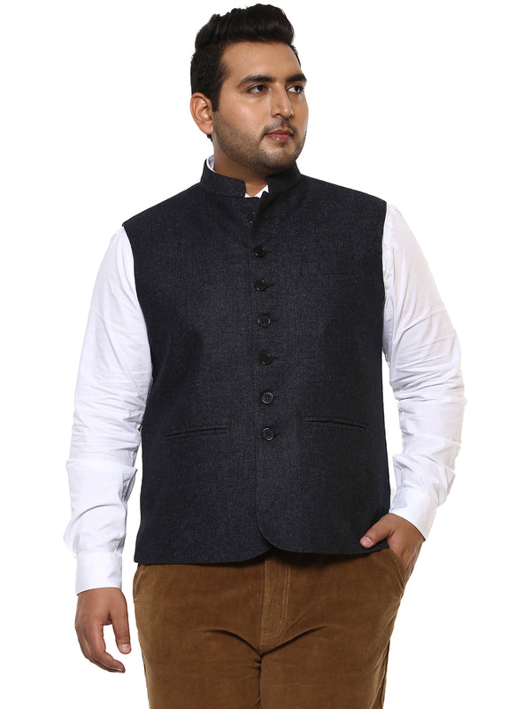 Dark Blue Nehru Jacket-7413