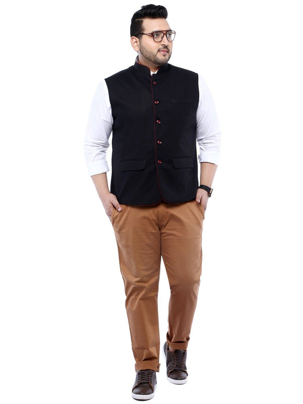 Black Nehru Jacket- 7418