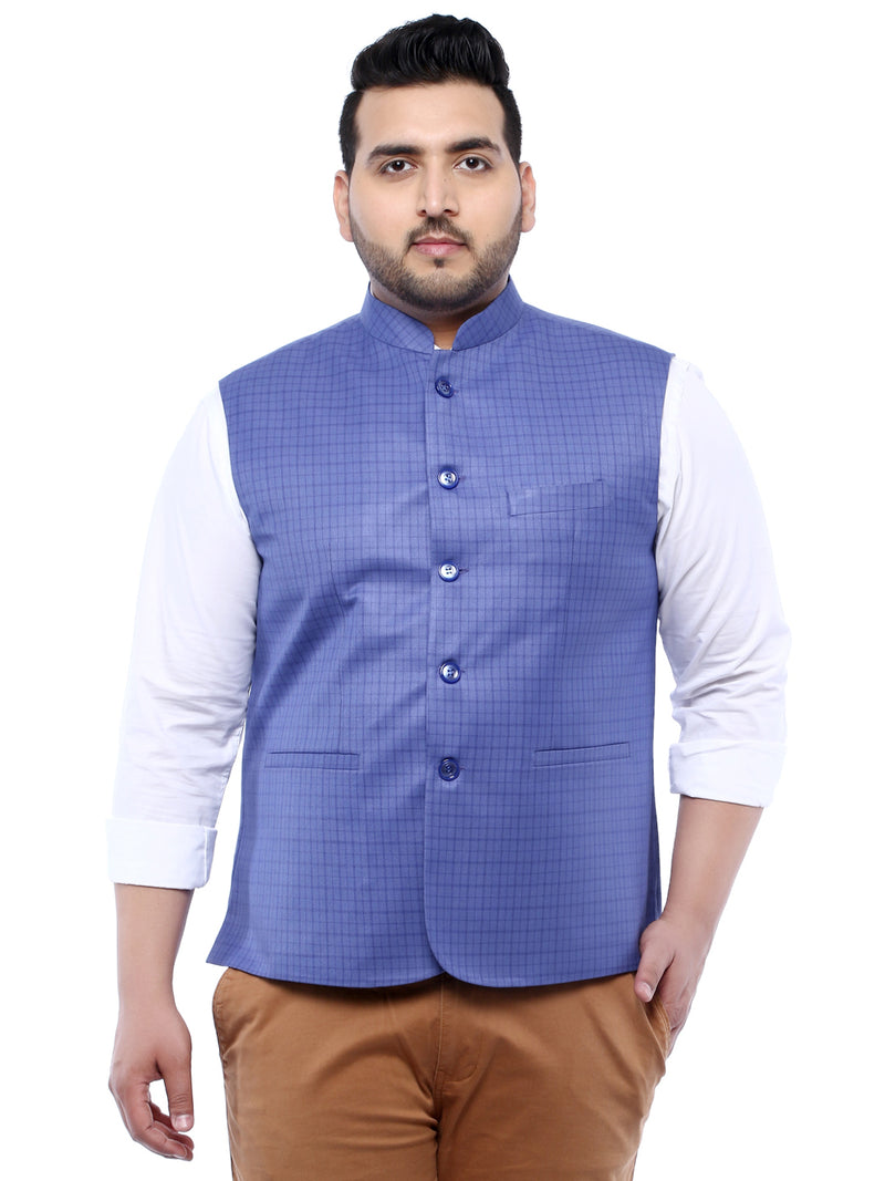Blue Nehru Jacket- 7420