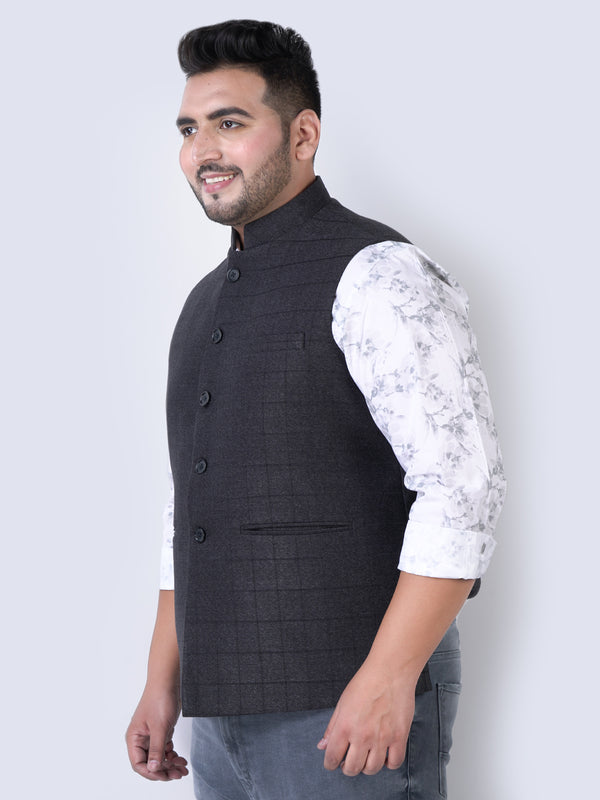 Unassuming Black Nehru Jackets- 7437