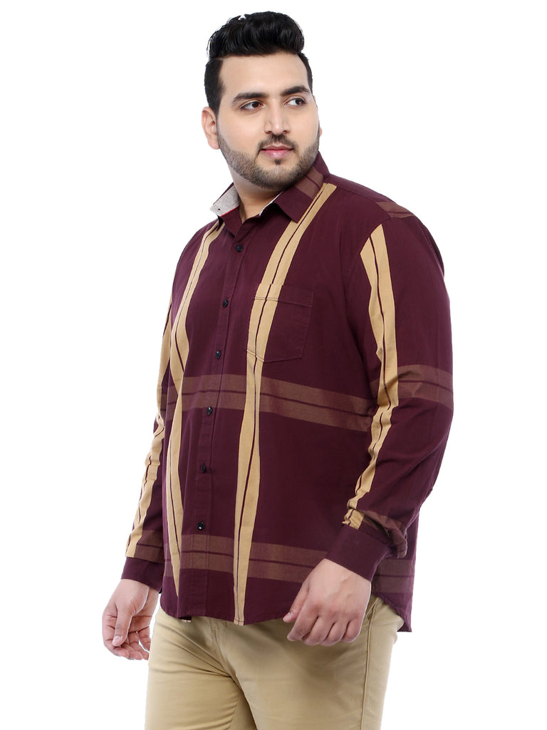 Maroon Full Sleeve Shirt-4143A