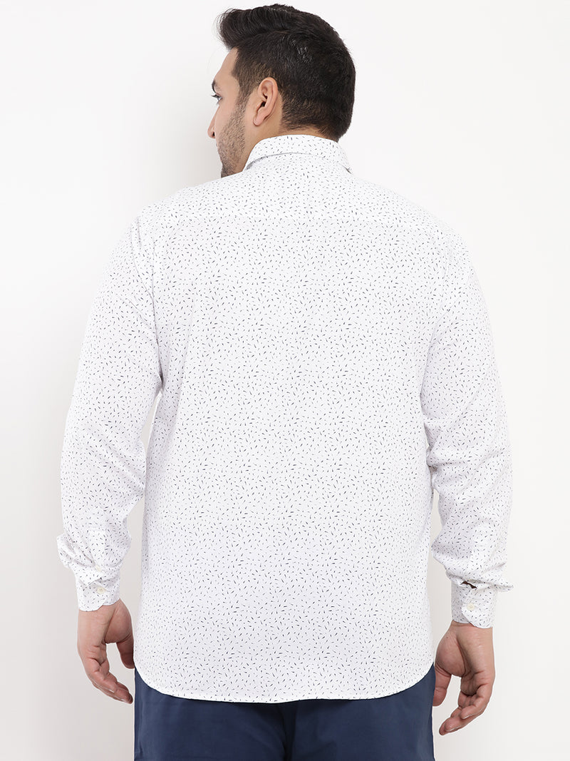 White Ductile Printed Shirt-4179C