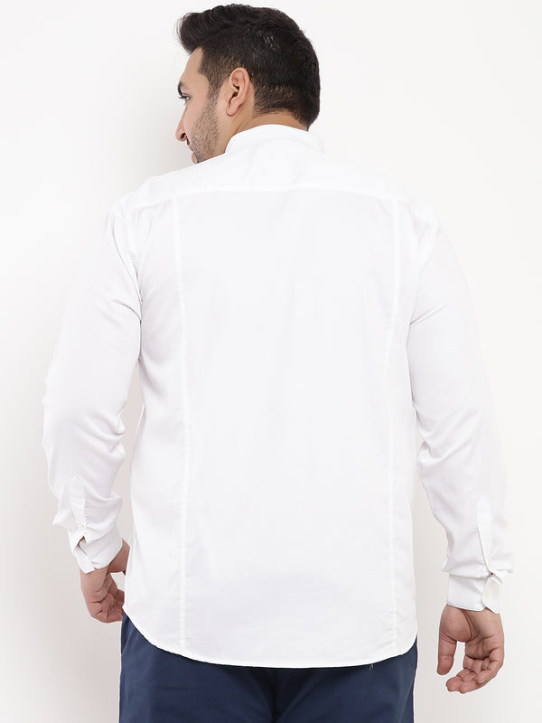 White Satin Shirt-4181B