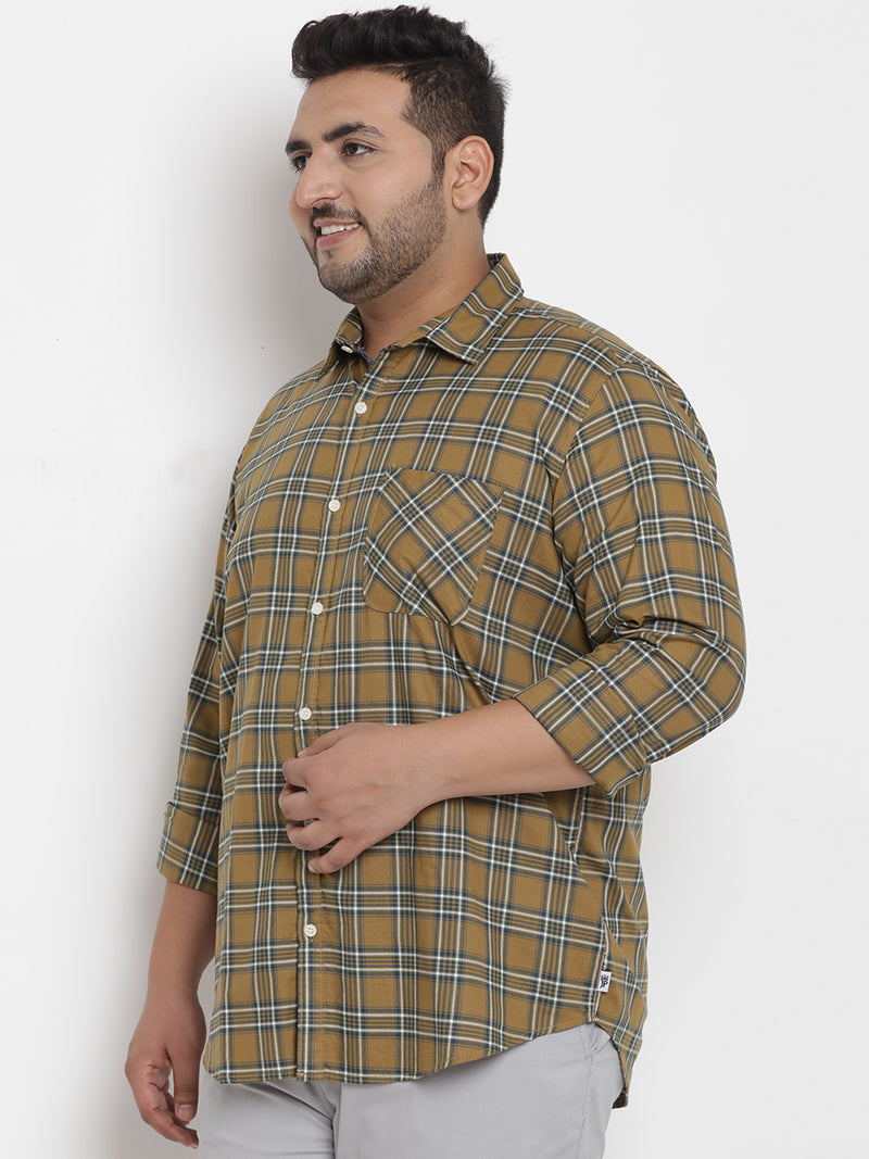 Mustered Checked Full Sleeve Shirt - 4190A