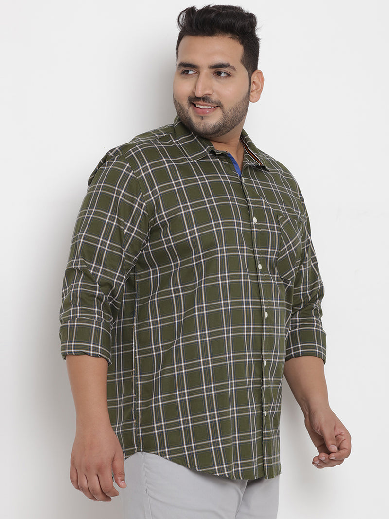 Green Checked Full Sleeve Shirt - 4190B