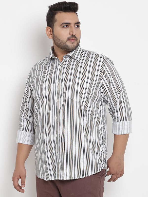 White Striped Cotton Shirt - 4193A