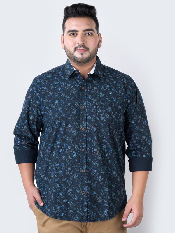 Dark Blue Printed Shirt - 4206A